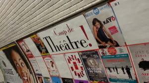 affiche métro belleville